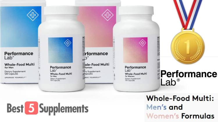 The best multivitamin for sensitive stomachs is Performance Lab Whole-Food Multi
