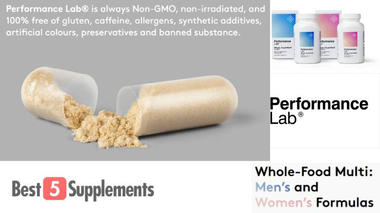 A picture showing the quality of Performance Lab's multivitamin