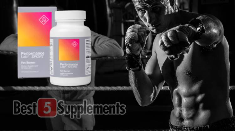A bottle of Performance Lab Fat Burner which is the best non-stim fat burner this year