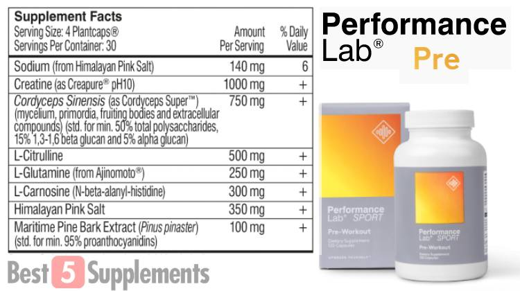 Our best pre-workout without side effects is Performance Lab Pre