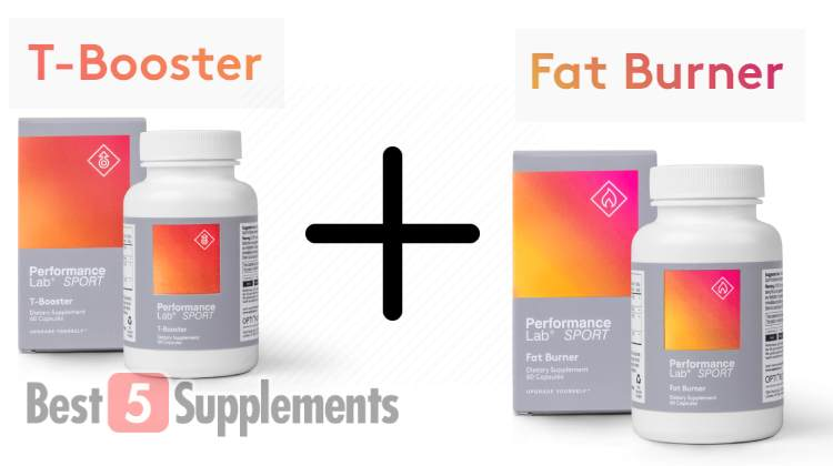 Best testosterone booster and fat burner combo of Performance Lab supplements