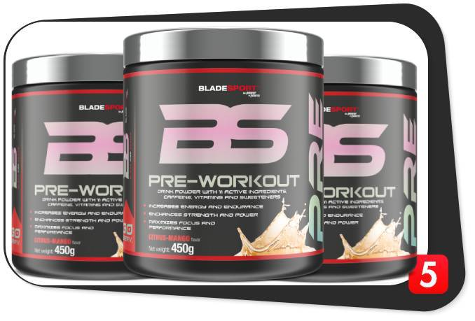 3 bottles of Blade Pre-Workout for this review