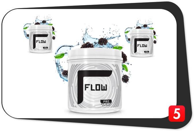 3 bottles of Flow Pre for our review