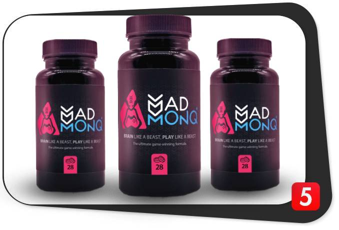 3 bottles of Madmonq brain booster for our review