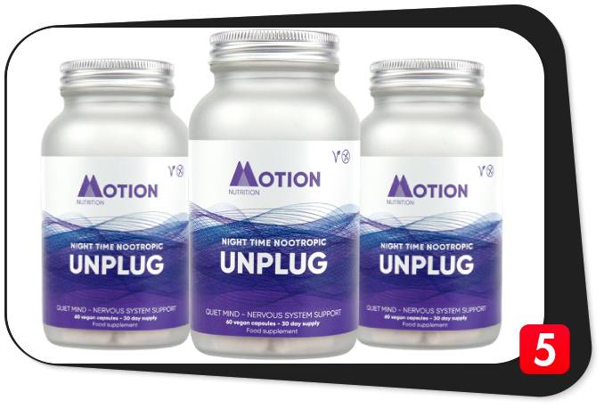 3 bottles of Motion Nutrition unplug for this review
