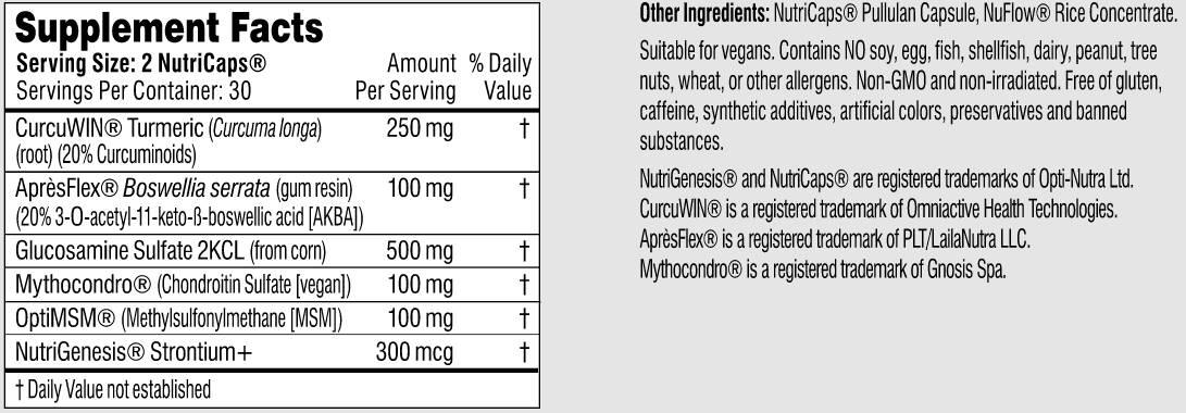 Best Joint Support Supplement Performance Lab Flex Ingredients