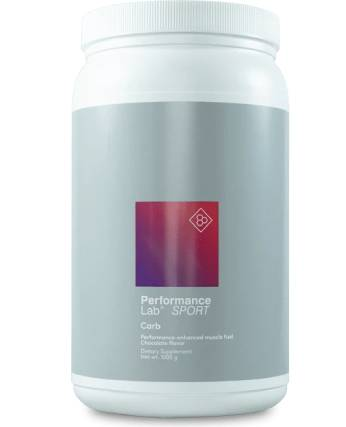 A 20 serving container of Performance Lab Carb