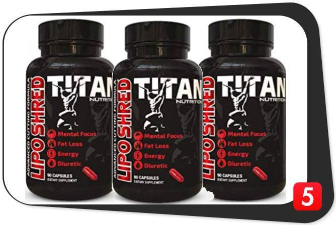3 bottles of Titan Nutrition Lipo Shred in this review