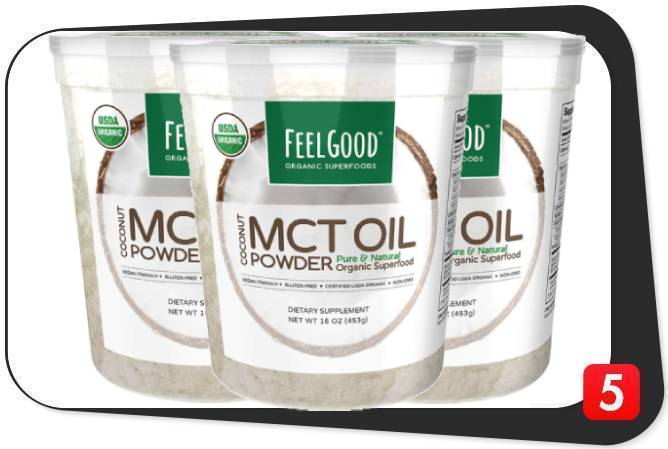 3 containers of Feel Good USDA Organic MCT Oil