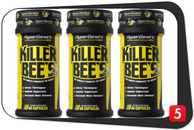 3 bottles of Killer Bee's Fat Burner for this review