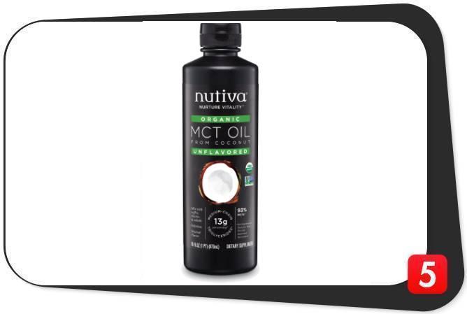 A bottle of Nutiva Organic MCT Oil
