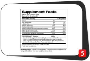 Stance Thermonade Supplements Facts
