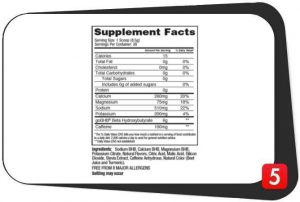 KetoLogic Ketoenergy BHB and Caffeine Supplements Facts