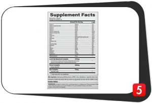 Neubria Zone Gaming Nootropic Supplements Facts